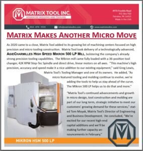 Matrix Tool Makes Another Micro Move!