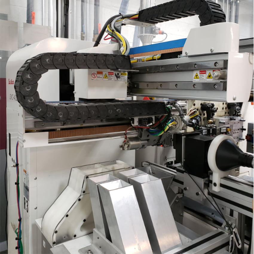 High Speed, Side Entry Robotic Work Cell