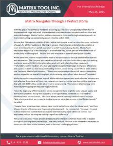 Matrix Navigates Through a Perfect Storm