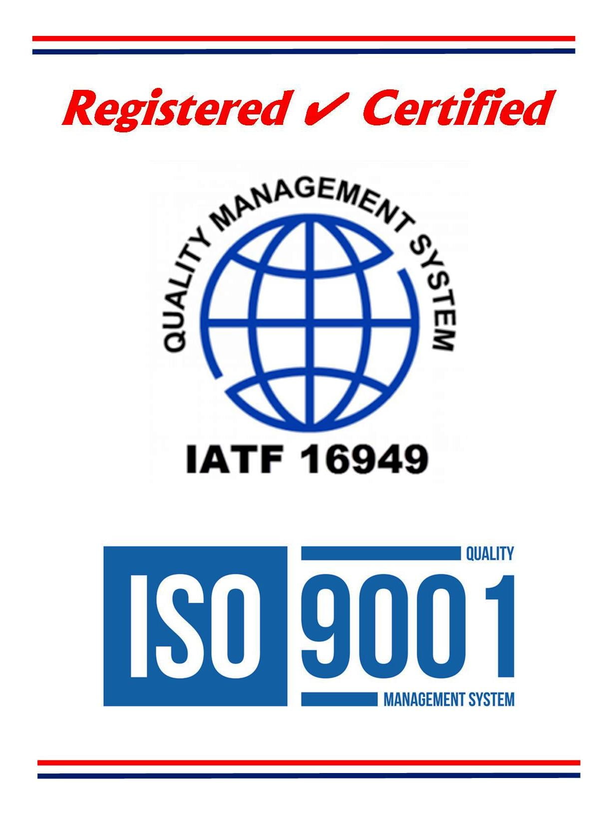Quality Certifications